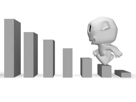 uphill: concept of economy growth Stock Photo