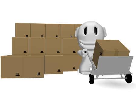 comit� d entreprise: caricature des hommes qui livrent les parcelles