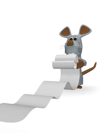 errands: cute mouse with errands to run