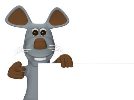 commissions: cute mouse with card for text