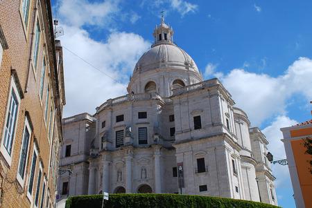 National Pantheon (Igreja de Santa Engracia, Panteao Nacional), Lisbon, Portugal. The Church of Santa Engracia is a 17th-century monument in Lisbon, Portugal. Originally a church, in the 20th century it was converted into the National Pantheon.