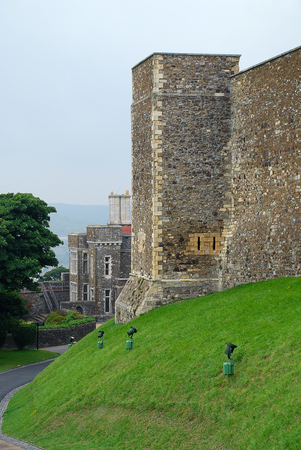 Dover Castle, Dover, Kent - view to the Constables Tower. The Constables Tower was the official residents of the Deputy-Constable of the Tower Editorial