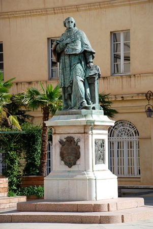 The Monument to Cardinal Fesch at the Cour du Mus? ? e Fesch, Ajaccio, Corsica, France. Joseph Fesch was a French cardinal and diplomat, Prince of France and a member of the Imperial French Empire, Peer of France, Roman Prince, and the Uncle of Napoleon B