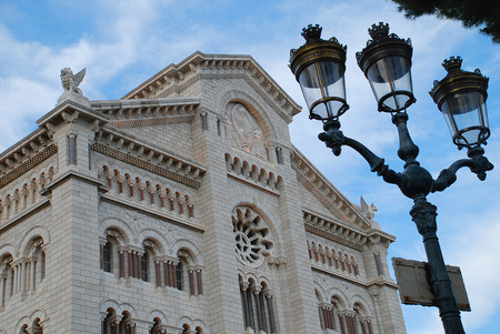 Cathedral of Our Lady in Monaco-Ville, Monaco. Stock Photo