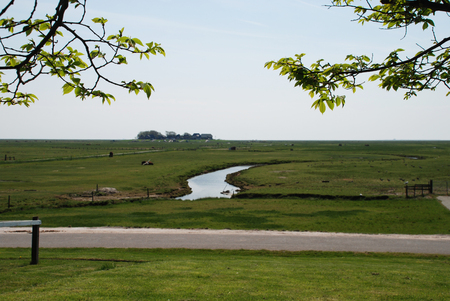 Hallig Hooge in North Friesland. The Halligen (singular Hallig) are ten small German islands without protective dikes in the North Frisian Islands on Schleswig-Holstein's Wadden Sea-North Sea coast in the district of Nordfriesland