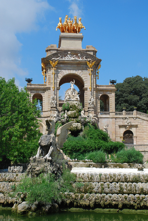 Parc de la Ciutadella, Barcelona, Spain: The parks fountain Reklamní fotografie