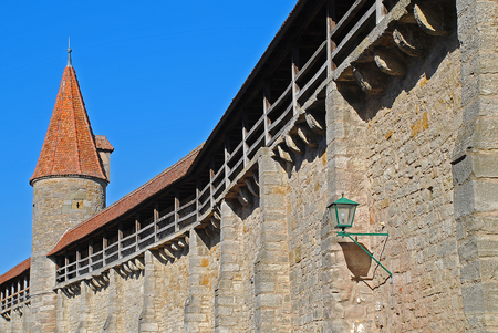 City Wall of Rothenburg ob der Tauber with the tower called