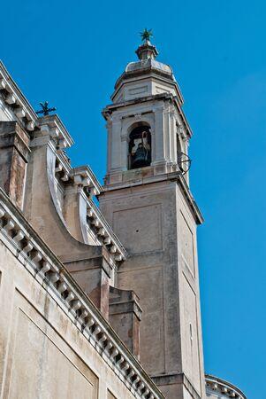 Venice, Italy: Tower of the church Santa Maria del Rosario, district Dorsoduro