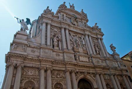 Venice, Italy: Church Chiesa di Santa Maria del Giglio (transl.: St. Mary of the Lily), district San Marco, is more commonly known as Santa Maria Zobenigo 版權商用圖片