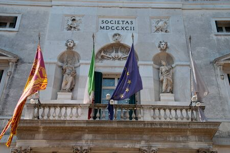 Venice, Italy: Calle del Caffettier, Teatro La Fenice, facade