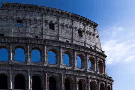 image created 21st century: Detail of the Coliseum Stock Photo
