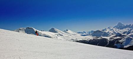 Skier in Sunshine Village, Canada