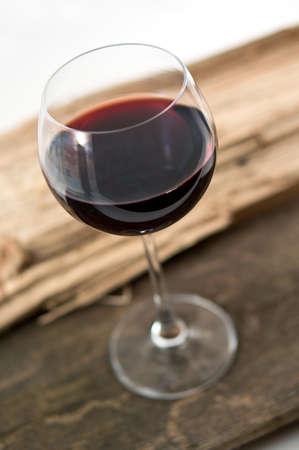wine on wood photo