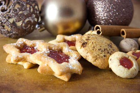 tasty christmas cookies  photo