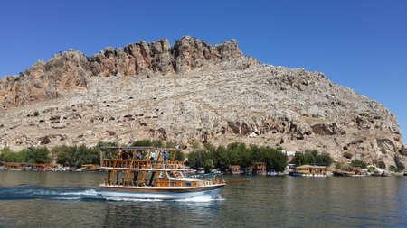 Lake, boats, nature and Turkey