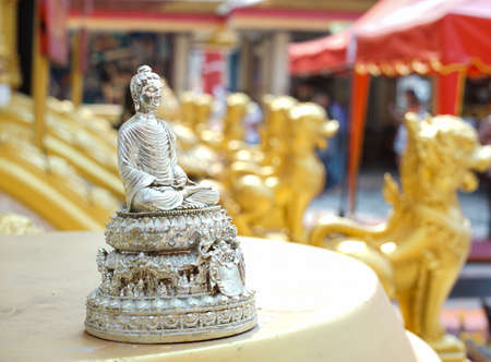 hunker: The Lord Buddha Statues in hunker position. Stock Photo