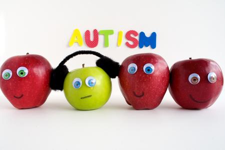 Autism Apple Series Stock Photo - 24072346