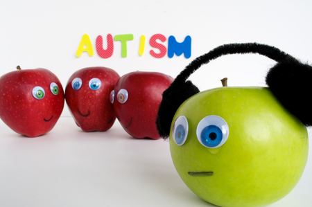 Autism Apple Series Stock Photo - 24072368