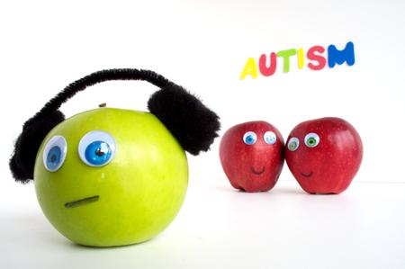 Autismus Apple-Serie Standard-Bild - 24072395