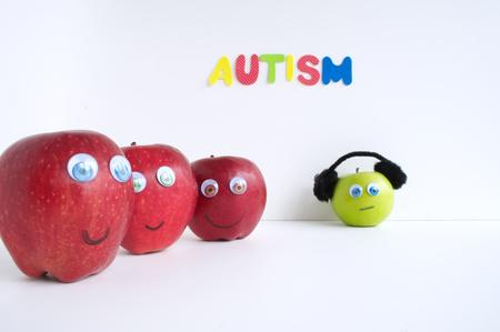 Autismus Apple-Serie Standard-Bild - 24072397