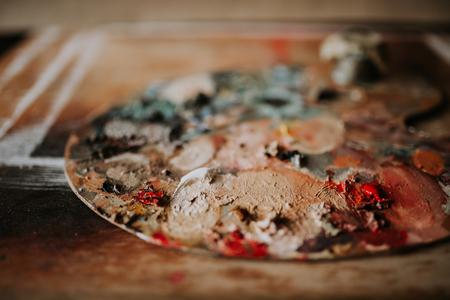 Artists palette. Close-up.