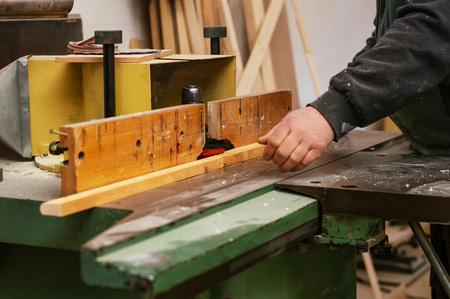 Craftman using his hands Stok Fotoğraf