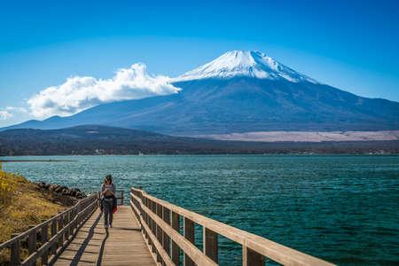 kawaguchi: Fuji Mountain with the Kawakuchigo Lake in foreground.