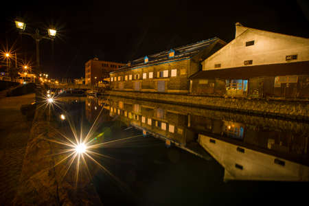 Otaru Canal, the famous place that the visitors came when arrived Hokaido, Japan