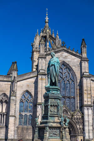 mile: St Giles Cathedral on Royal Mile in Edinburgh, Scotland Stock Photo