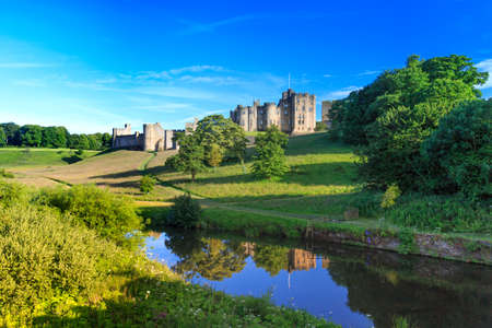 Alnwick Castle, a castle and stately home in Alnwick in the English county of Northumberland. Editorial