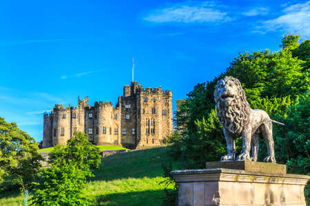 stately home: Alnwick Castle, a castle and stately home in Alnwick in the English county of Northumberland. Editorial