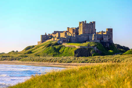 Bamburgh Castle, North East Coast of England, taken in long exposure shutter. Editorial