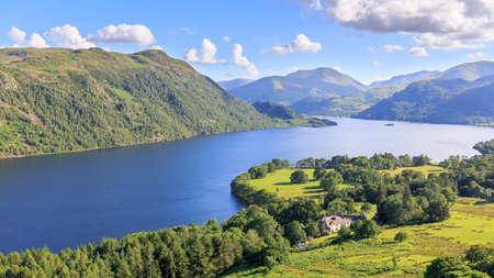 lake district: View of Ullswater Lake, Lake District, UK Stock Photo