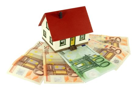 funded: House on Euro banknotes