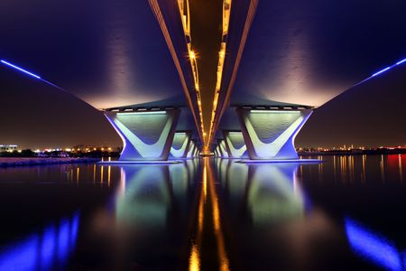 al: Al Garhoud Bridge in Dubai