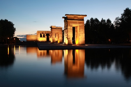 The Temple of Debod in Madrid originally comes from Egypt Stock Photo