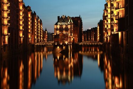 The Hamburg warehouse district (German Speicherstadt) is the world's biggest warehouse district Stock Photo - 10006230