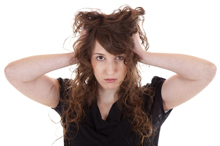 Portrait of a desperate young woman Stock Photo - 14516012