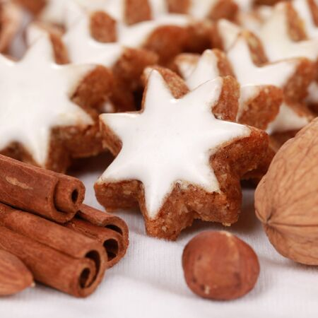 Group of homemade christmas cookies with selective focus Stock Photo - 15376297