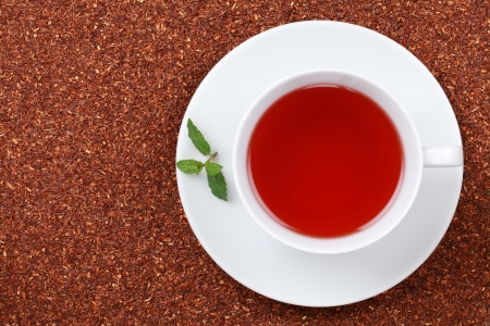 rooibos tea: Rooibos Tea in a cup with lots of copy space