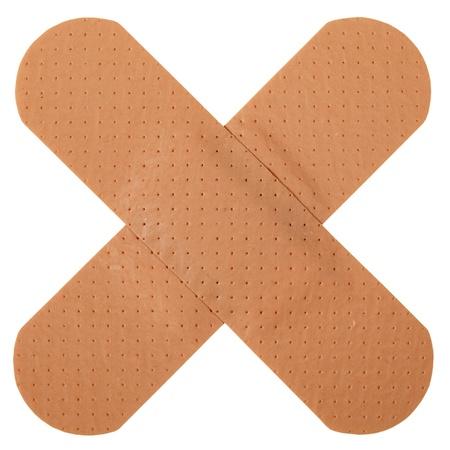 Patch in kruisvorm, geïsoleerd op witte achtergrond Stockfoto