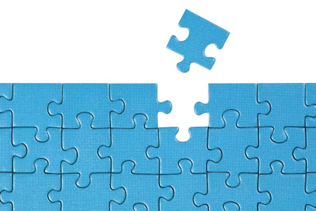 Symbolic picture showing the solution for a problem with a puzzle photo