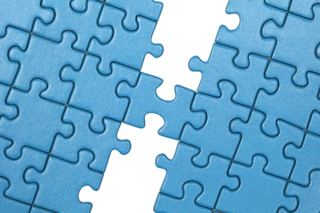 Symbolic picture showing the connection between two parts with a puzzle photo