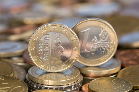 A one Euro coin from the EU member country Luxembourg photo