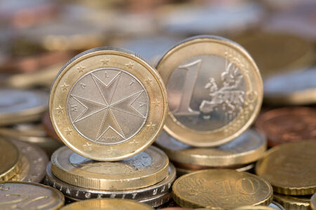 A one Euro coin from the EU member country Malta photo