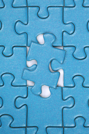 puzzle jigsaw: Last piece in a jigsaw puzzle, concept problem solution and strategy Stock Photo