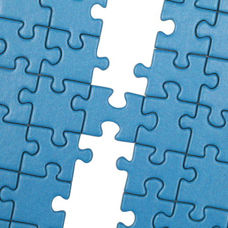 linking together: Symbolic picture topic organization, teamwork, team, integration Stock Photo