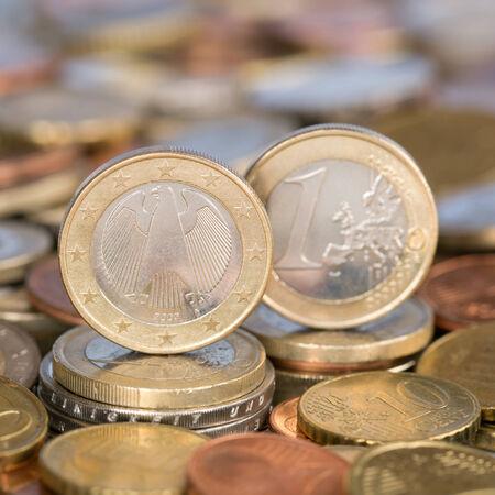 european union currency: Una moneda de un euro de la moneda de los pa�ses miembros de la Uni�n Europea Alemania
