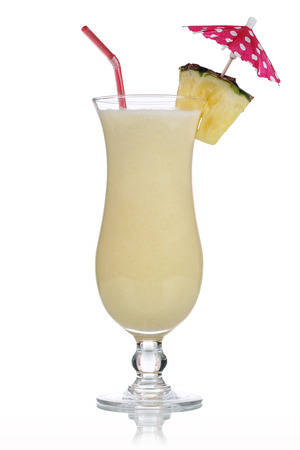 Pina Colada Cocktail isolated on a white background photo