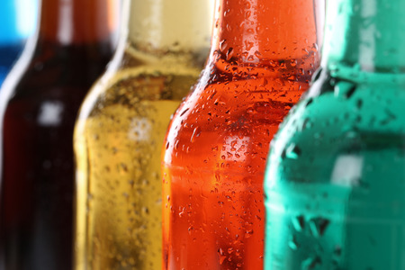 soft drinks: Soda drinks with cola, soft drinks in bottles Stock Photo
